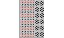 Декаль Габариты на прозрачной подложке, черный / красный (100х140), фототравление, декали, краски, материалы, maksiprof, scale43
