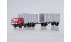 SSM. КАМАЗ-53212 контейнеровоз с прицепом ГБК-8350, масштабная модель, 1:43, 1/43, Start Scale Models (SSM), Skoda