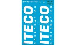 Декаль ITECO. Размер А6