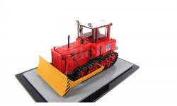 Моделстрой. ДТ-75 'Почтальон', бульдозер (красный, чистый), масштабная модель трактора, 1:43, 1/43