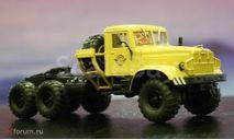 НАП. КРАЗ 255В седельный тягач, бежевый, масштабная модель, scale43, Наш Автопром