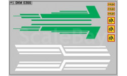 Декаль. Полосы на КАВЗ Зеленые и белые. DKM0366, фототравление, декали, краски, материалы, 1:43, 1/43, maksiprof
