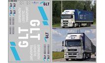 Декаль. Набор декалей транспортная компания GLT (вариант 2) (100х140) DKM0534, фототравление, декали, краски, материалы, scale43, maksiprof, КамАЗ