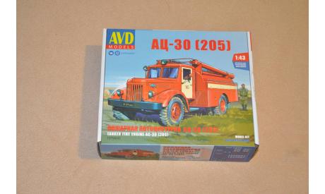 Авто в деталях. Кит АЦ-30 (205) Маз . SSM. 1375AVD, сборная модель автомобиля, 1:43, 1/43, AVD Models