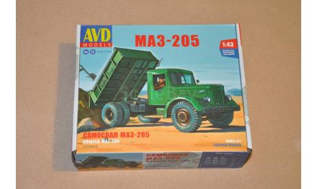Авто в деталях. Кит МАЗ-205 самосвал. SSM, сборная модель автомобиля, 1:43, 1/43, AVD Models