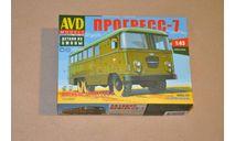 Авто в деталях. Кит Штабной автобус Прогресс-7 . SSM. 1415AVD, сборная модель автомобиля, 1:43, 1/43, AVD Models, ЗИЛ
