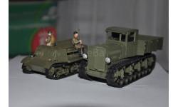 Набор. Комсомолец Т-20 артиллерийский тягач и Коминтерн тягач, масштабная модель, 1:43, 1/43, Моделстрой