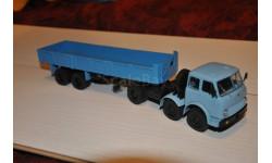 Наш Автопром. НАП. МАЗ-520 (6x2) + МАЗ-5205, голубой / синий, масштабная модель, 1:43, 1/43