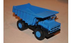 Наш Автопром. БелАЗ-7527 самосвал-углевоз, синий НАП, масштабная модель, 1:43, 1/43