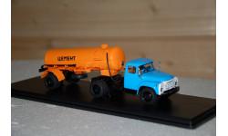 SSM. ЗИЛ 130В1 (поздний)+полуприцеп ТЦ 4 Цемент (оранжевый)