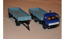 АИСТ. КАМАЗ-5320 с прицепом ГКБ-8650, масштабная модель, 1:43, 1/43, Автоистория (АИСТ)