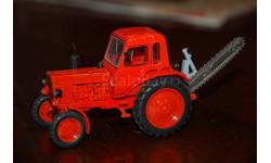 Тракторы: история, люди, машины МТЗ-80 с барой, масштабная модель трактора, 1:43, 1/43, Тракторы. История, люди, машины. (Hachette collections)