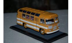 ClassicBus. ПАЗ-672 Охра, белые полосы, масштабная модель, 1:43, 1/43