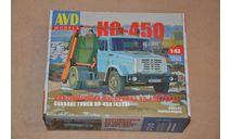 Авто в деталях. Кит Контейнерный мусоровоз КО-450 (4333), сборная модель автомобиля, 1:43, 1/43, AVD Models, ЗИЛ