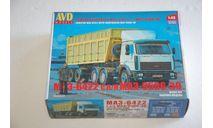 AVD. МАЗ-6422 с полуприцепом МАЗ-9506-30 кит. SSM, сборная модель автомобиля, scale43, AVD Models