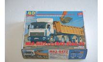 AVD. МАЗ-6422 с полуприцепом МАЗ-9506-20. SSM, сборная модель автомобиля, scale43, AVD Models