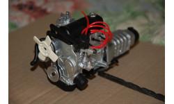 Дно, передняя подвеска с двигателем, капот и решетка радиатора в сборе Ваз-2101 1:8, запчасти для масштабных моделей, 1/8, DeAgostini