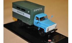 Dip Models. ГАЗ ГЗСА-37112 'Почта', голубой / зеленый, масштабная модель, 1:43, 1/43