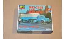 Авто в деталях. Кит МАЗ-200В с полуприцепом МАЗ-5217, сборная модель автомобиля, 1:43, 1/43, AVD Models