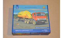Авто в деталях. Кит КАМАЗ-54112 с полуприцепом АСП-25, сборная модель автомобиля, scale43, AVD Models