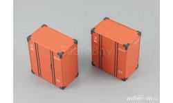 Dip Models. Набор ж./д. контейнеров 'УД-2,5', масштабная модель, 1:43, 1/43, ГАЗ