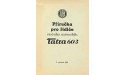 Скан руководства по эксплуатации автомобиля Tatra 603. 1-е издание, 1958 г. (чешский язык, 104 стр.)