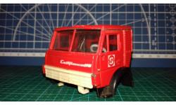 1:43 Спальная кабина для КАМАЗ красный, Совтрансавто (ранний) Элекон