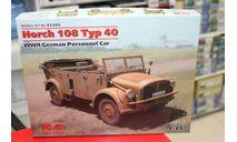 35505 Horch 108 Typ 40, Германский армейский автомобиль 1:35 ICM возможен обмен, сборные модели бронетехники, танков, бтт, 1/35