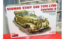 35107 автомобиль  GERMAN CAR TYPE 170V Cabriolet B   1:35 Miniart возможен обмен, сборные модели бронетехники, танков, бтт, 1/35