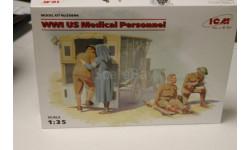 35694  Медицинский персонал США І МВ 1:35 ICM, миниатюры, фигуры, 1/35