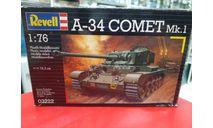 03222 A-34 COMET Mk I нет гусениц 1:76 Revell Возможен обмен, сборные модели бронетехники, танков, бтт, scale72