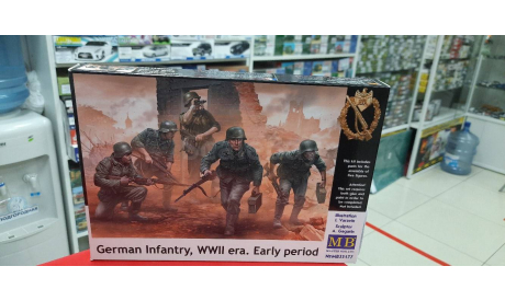35177 Немецкая пехота, период Второй мировой войны. Начальный период 1:35 Masterbox   возможен обмен, миниатюры, фигуры, scale35
