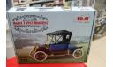 24001 Model T 1913 Roadster, Американский пассажирский автомобиль1:24 ICM возможен обмен, сборная модель автомобиля, 1/24