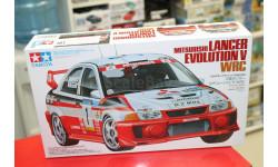 24203 Lancer Evo.V WRC 1:24 Tamiya, сборная модель автомобиля, 1/24, Mitsubishi
