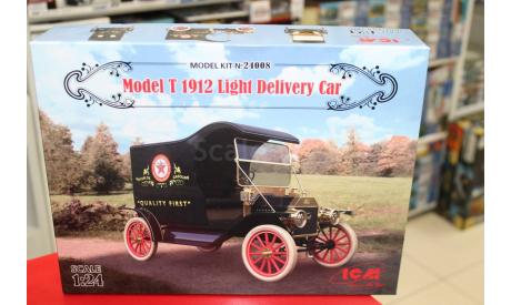 24008 Развозной фургон Модель Т 1912 г. 1:24 ICM возможен обмен, сборная модель автомобиля, scale24