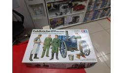 35247 German Field Kitchen Немецкая полевая кухня с двумя поварами и двумя солдатами 1:35 Tamiya  возможен обмен