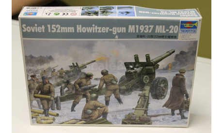 02315 Танк Russian ML-20 M1937 152mm Howitzer, сборные модели бронетехники, танков, бтт, 1:35, 1/35, Trumpeter