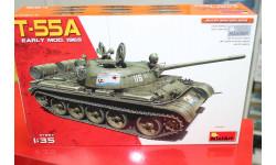 37057  танк  T-55A EARLY Mod. 1965  1:35 Miniart возможен обмен, сборные модели бронетехники, танков, бтт, scale35
