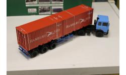 МАЗ-6422 (синий) + полуприцеп МАЗ-938920 1:43 Автоистория, масштабная модель, 1/43, Автоистория (АИСТ), ГАЗ