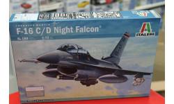 0188  самолет  F-16C/D NIGHT FALCON 1:72 Italeri возможен обмен, сборные модели авиации, scale0