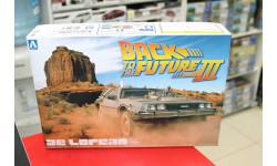 01187 Back To The Future DeLorean from Part III 1:24 Aoshima возможен обмен, сборная модель автомобиля, scale24