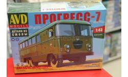 Штабной автобус Прогресс-7 1:43 AVD возможен обмен, масштабная модель, AVD Models, scale43
