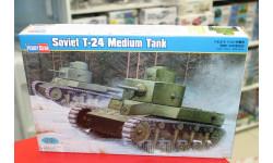 82493 Танк Soviet T-24 Medium Tank 1:35 HOBBYBOSS возможен обмен