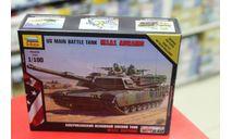 7405 Американский основной боевой танк Абрамс М1А1 1:100 Звезда  возможен обмен, сборные модели бронетехники, танков, бтт, 1/100