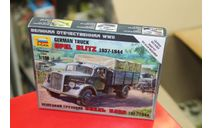 6126 Немец.грузовик Опель-Блитц 1:100 Звезда возможен обмен, сборные модели бронетехники, танков, бтт, Opel, scale100