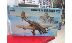 03216 Немецкий пикирующий бомбардировщик Junkers JU-87К Stuka 1:32 Trumpeter возможен обмен, сборные модели авиации, scale32
