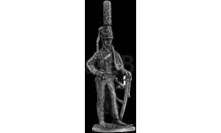 Русский офицер Лубенского гусарского полка, 1809-1811 25 мм Металл Ekcastings