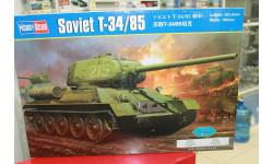 82602 Танк WWII Soviet T 34-85  1:16 Hobby Boss возможен обмен, сборные модели бронетехники, танков, бтт, scale16