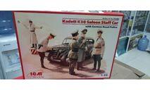 35480 Kadett K38 седан, с Германской дорожной полицией  1:35 ICM возможен обмен, сборные модели бронетехники, танков, бтт, Москвич, scale35