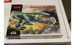 72191 Хейнкель He51B Испанский истребитель биплан  1:72 ICM